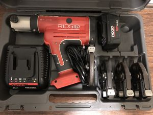 Ridgid press tool,RP 210 viene con bits de 1/2,3/4,1,y1 1/4 for Sale in Hyattsville, MD