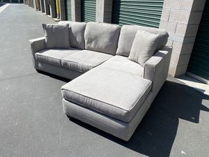 Light grey sectional sofa couch reversible *Delivery available for Sale in Mission Viejo, CA