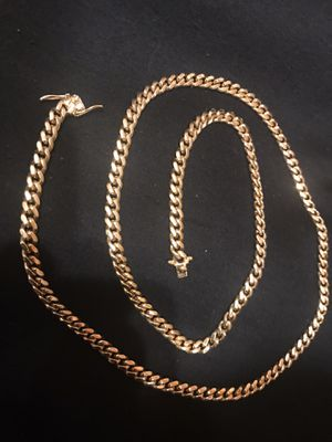 14k solid gold Cuban link chain for Sale in Bloomingdale, IL