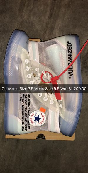 Converse Offwhite New Ds Authentic Trade cash size swap for Sale in Miami, FL
