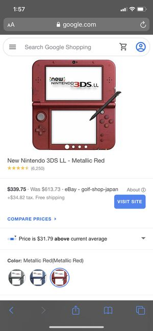 Nintendo 3DS xl (Red) for Sale in Long Beach, CA