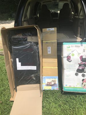 New baby bed and Mickey Mouse stroller for Sale in Nashville, TN