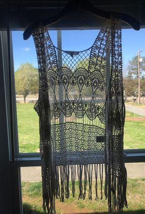 crochet boho fringe cover up for Sale in Salisbury, NC