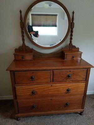Antique Dresser with mirror for Sale in Denver, CO