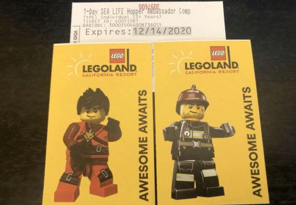 Legoland 1 day hopper Exp 12/14/20
