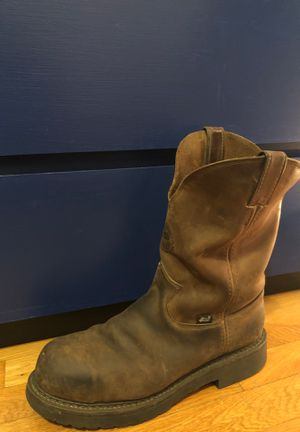 Men's size 11.5 Justin Steel toed boots for Sale in Denver, CO