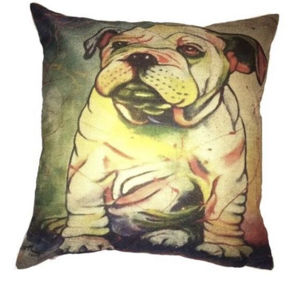 Bulldog dog pet couch size pillow 17 inches by 17 inches