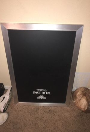 Patron black board, never been used. Perfect to hang up in the kitchen. for Sale in Nashville, TN