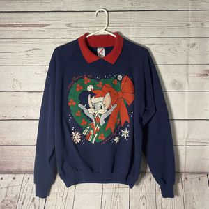Vintage 1990s Ugly Christmas Wreath Sweater for Sale in Tacoma, WA