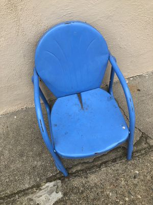 1950s kids patio chair. Blue for Sale in Ontario, CA