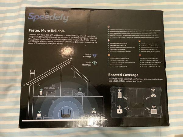 Speedefy AC2100 Smart WiFi Router - Dual Band Gigabit Wireless Router