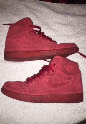 Red Air Jordan suede 1's size 8.5 men's for Sale in Powersville, GA