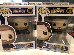 Captain America and Bucky Funko lot for Sale in Lakewood, CA