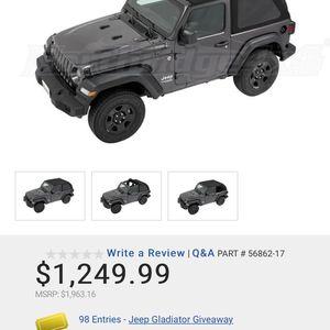 Bestop Trektop Soft Top 2dr - Black Twill for Sale in Olympia, WA