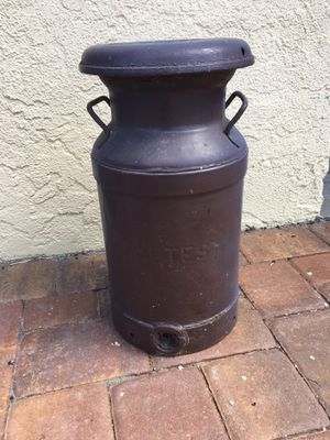"Antique Milk Can 20"" tall heavy metal for Sale in Tampa, FL"