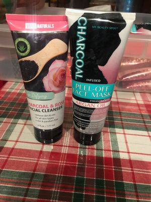 Charcoal & rose facial cleanser & charcoal peel off face mask $5.00 each one for Sale in Los Angeles, CA