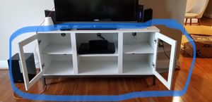 """52"""" White - Wood TV Console With Metal Legs - Brand new with box for Sale in Gaithersburg, MD"""