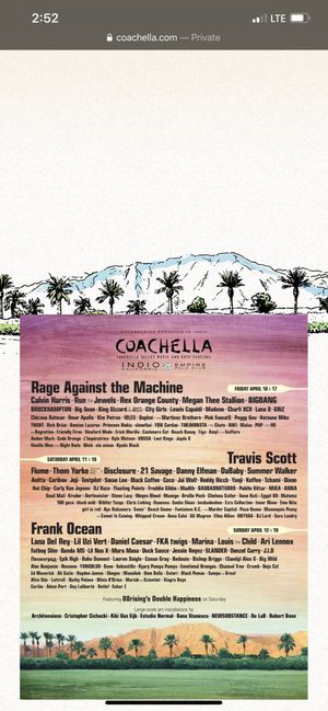 (3) Coachella weekend 1 GA tickets + SHUTTLE passes!! for Sale in Los Angeles, CA