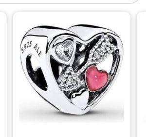 Pandora valentines charm for Sale in Fresno, CA
