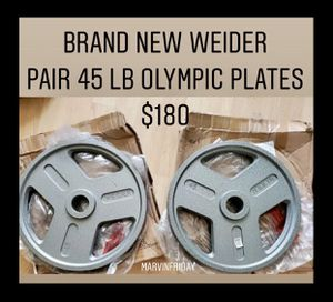 Brand new Weider pair 45 lb Olympic weight plates for Sale in Chula Vista, CA