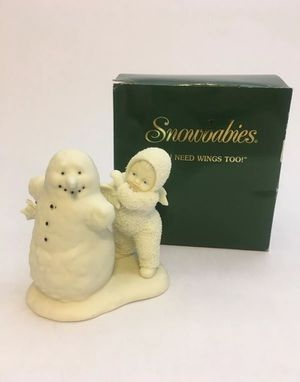 Department 56 Snowbabies 'You Need Wings Too!' Christmas Figurine-Melted Snowman for Sale in Hamilton Township, NJ