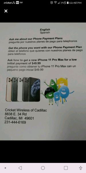 IPhone 11 Pro Max for Sale in Cadillac, MI