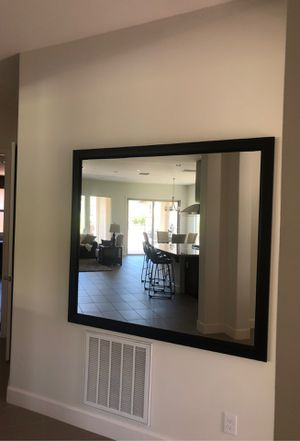 Extra large framed mirror 60 x 54 for Sale in Peoria, AZ