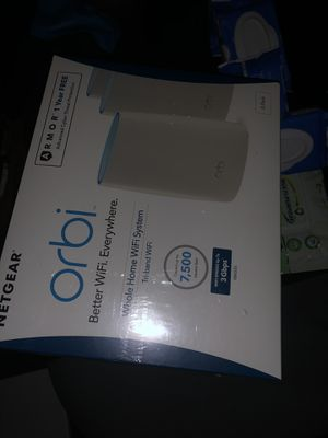 Orbi whole home wifi system for Sale in Silver Spring, MD