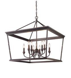 """""""Golden Lighting"""" - Dark Bronze 9 light hanging fixture for Sale in Whittier,  CA"""