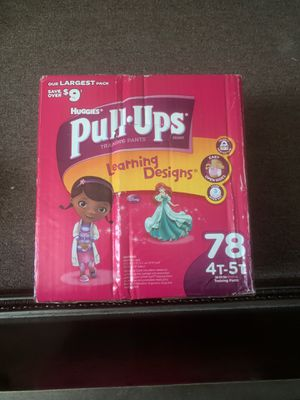 Huggies pull ups 78 ct. 4T- 5T for Sale in Houston, TX