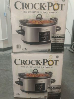Crock Pot 7 Quart original slow cooker digital programmable portable with travel lid for Sale in Pico Rivera, CA