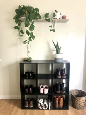 Ikea KALLAX Shelf unit, black-brown, 44 1/8x44 1/8 for Sale in San Francisco, CA