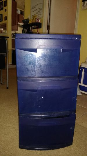 Plastic drawers asking $12 for Sale in San Antonio, TX