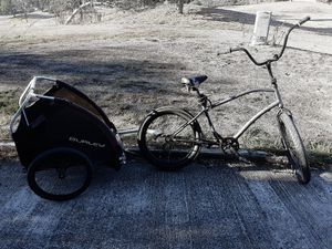 Freedom men's beach cruiser bike & Burley trailer for Sale in San Diego, CA