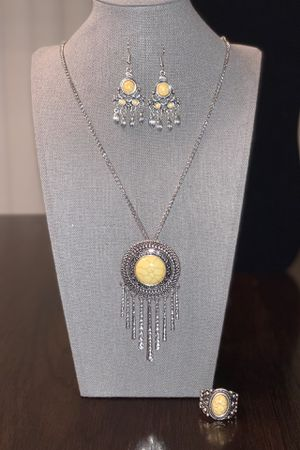 Yellow Stone Necklace Set for Sale in Warsaw, IN