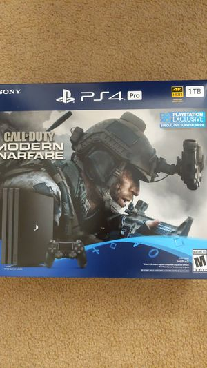 PS4 Pro w/ Modern Warfare (Brand New Sealed) -$500 for Sale in Silver Spring, MD