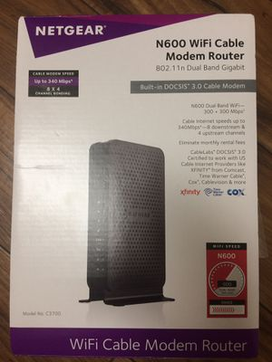 Netgear modem router for Sale in Irving, TX