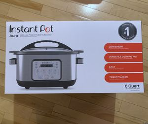 Instant Pot Aura 10-in-1 multicooker 6QT for Sale in Mountlake Terrace, WA