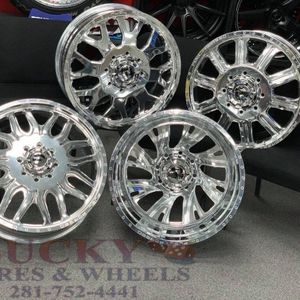 """24"""" fuel dually wheels polish __best deal for Sale in Houston, TX"""