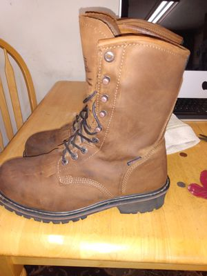 logger work boots by schmidt for Sale in Hamilton, OH