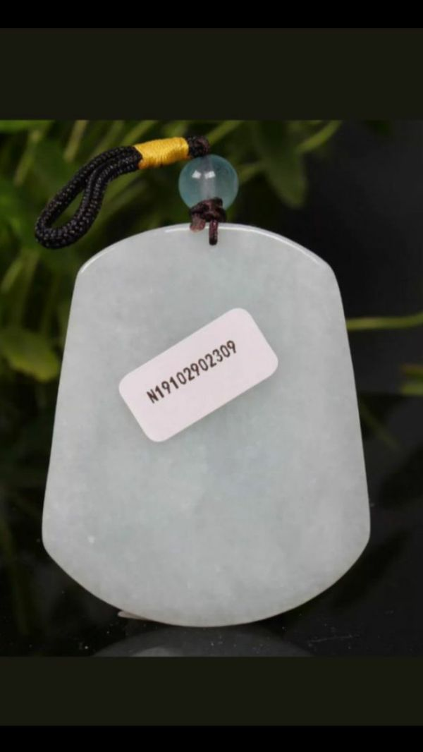 Shipping only!Cert'd Green 100% Natural A Jade jadeite Pendant Carved maitreya