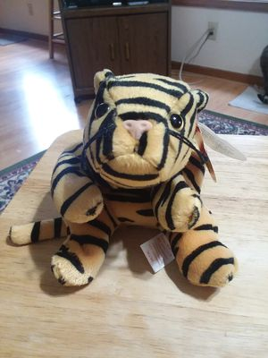 Ty beanie baby Stripes the tiger for Sale in US