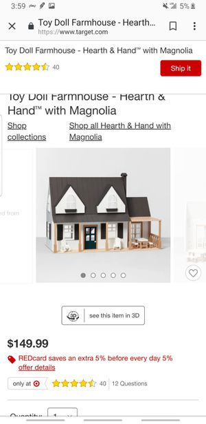 Toy Doll Farmhouse - Hearth & Hand™ with Magnolia for Sale in Nashville, TN