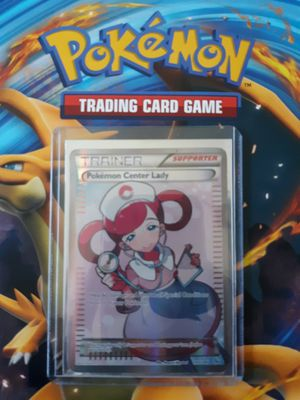 Pokemon center lady pokemon card fullart rare for Sale in Thornton, CO