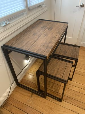 Breakfast Nook or Homework Table with Stools for Sale in Belmont, CA