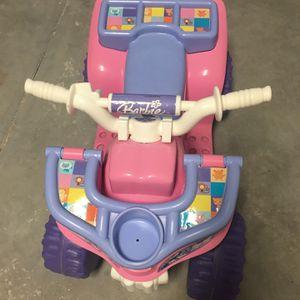 Barbie 6V Ride On ATV - needs battery for Sale in Chesapeake, VA