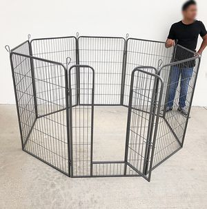 """New in box $125 Heavy Duty 48"""" Tall x 32"""" Wide x 8-Panel Pet Playpen Dog Crate Kennel Exercise Cage Fence for Sale in South El Monte, CA"""