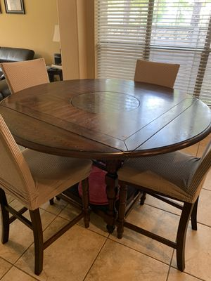 Counter high wooden breakfast table with 4 chairs for Sale in Katy, TX