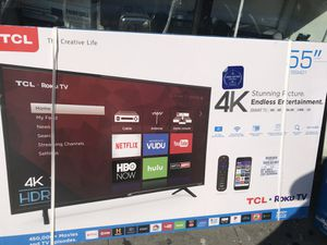 "55"" SMART TCL ROKU TV 4K. BRAND NEW. for Sale in Los Angeles, CA"