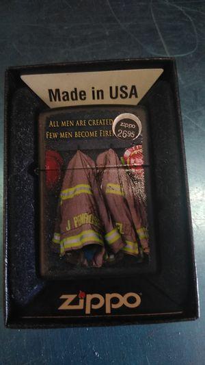 Zippo All men are created few men are firemen for Sale in Philadelphia, PA